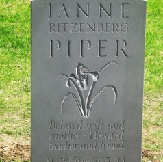 Memorial with Carved Iris