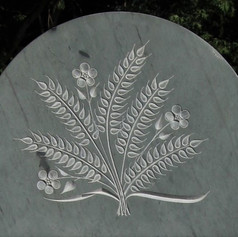 Memorial with Carved Wheat