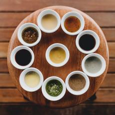 Een verzameling van sausjes