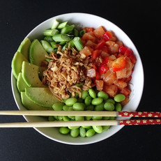 Zalm Sashimi Poké Bowl