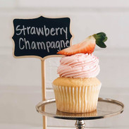 Strawberry Champagne Cupcake