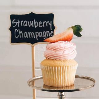 Strawberry Champagne Cupcake