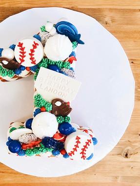Confetti Cake - Baseball Theme
