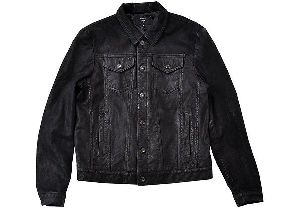 Mick Trucker Leather Jacket