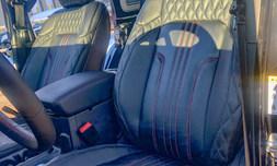 Custom leather upholstery