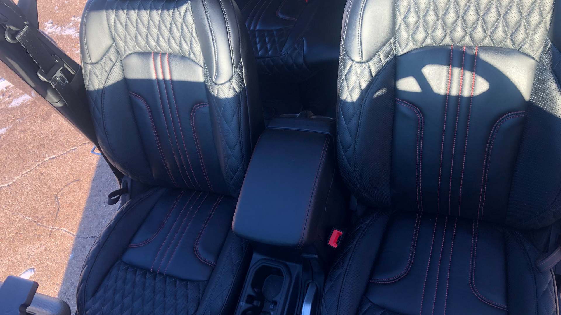 Custom leather interior