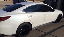 blacked out 2016 mazda 6 powder coated rims