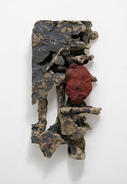 T郭旭達,Untitled 96-24,1996,陶、金屬氧化物 Fired C