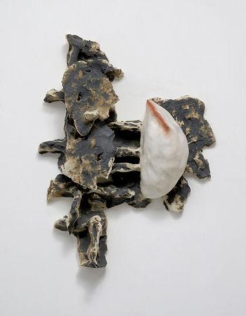 T郭旭達,Untitled 96-36,1996,陶、金屬氧化物 Fired C