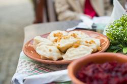 Traditional pierogi (dumplings)