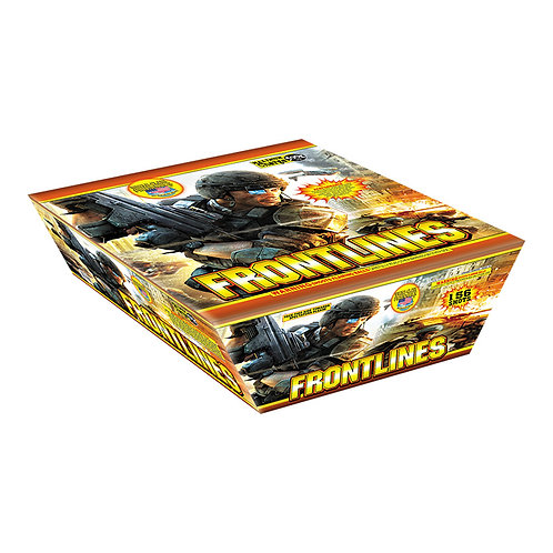 156 Shot Frontline Fireworks Sprinkler Cake