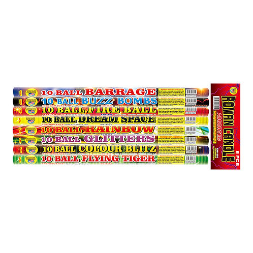10 Ball Assorted Roman Candles