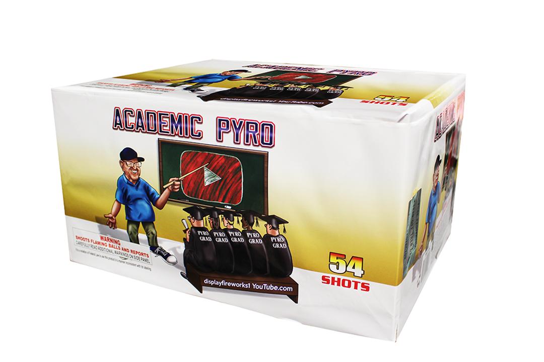 academic pyro fireworks cake