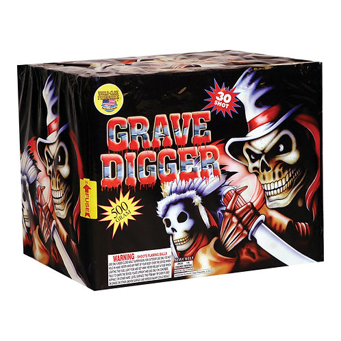 Grave Digger Top Selling Fireworks Cake