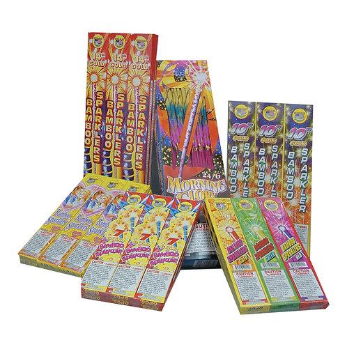 "8"" Colored Metal Stick Sparklers"