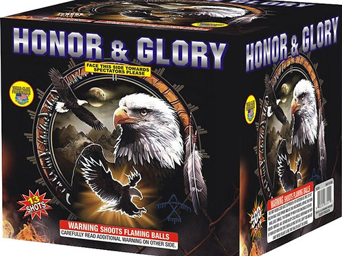 Honor & Glory fireworks cake