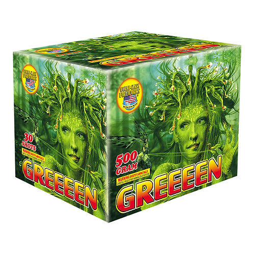 30 shot greeeen fireworks multiple shot repeater