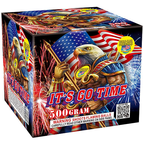 It's Go Time 500 gram repeater fireworks cake