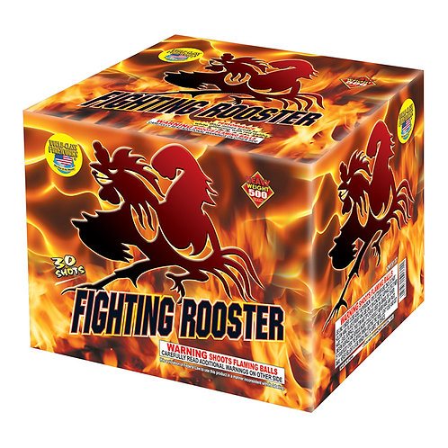Fighting Rooster Top Selling Fireworks Cake