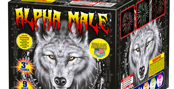 Alpha Male Fireworks Finale Cake