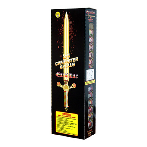 Excalibur Canister Shells - 96 Shells, 16 Shooting Tubes - Only $52.25 Per Box