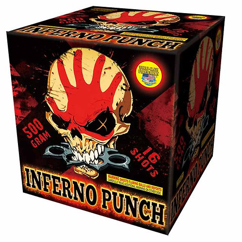 16 shot Inferno Punch Fireworks Cake