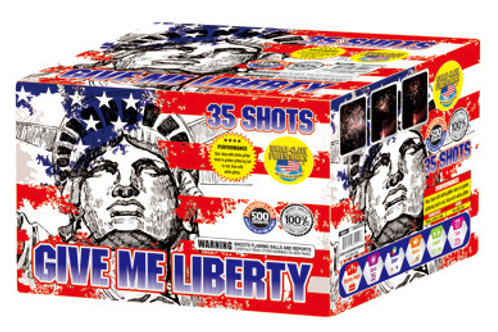 35 shot fireworks repeater cake Give Me Libery