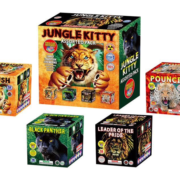 Jungle Kitty Fireworks Assortment