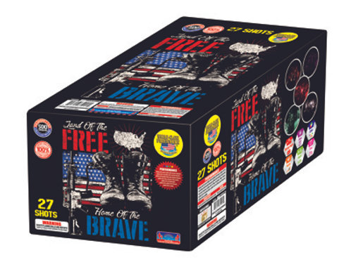 27 shot land of the free home of the brave fireworks repeater cake