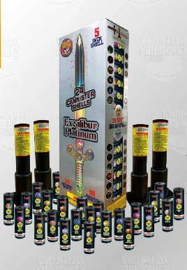 Platinum Excalibur Fireworks Shells