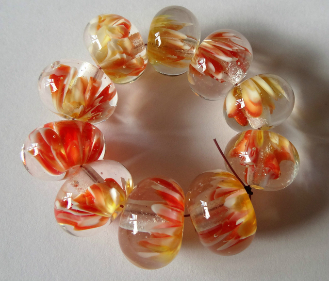 Encased Lampwork Beads