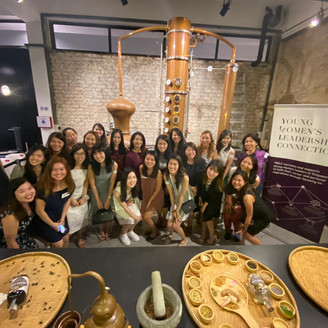 Members Kick it Back with Lioness Ms Jamie Koh from Brass Lion Distillery