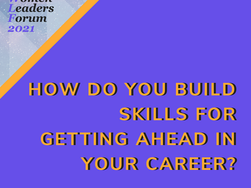 Building Skills for Getting Ahead in Our Careers