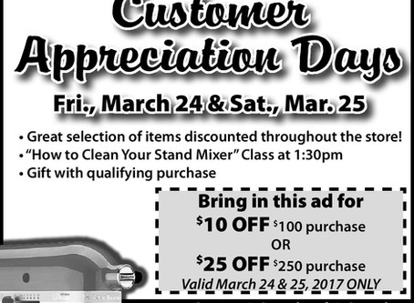 KitchenAid Customer Appreciation Days & March Trade-In Event