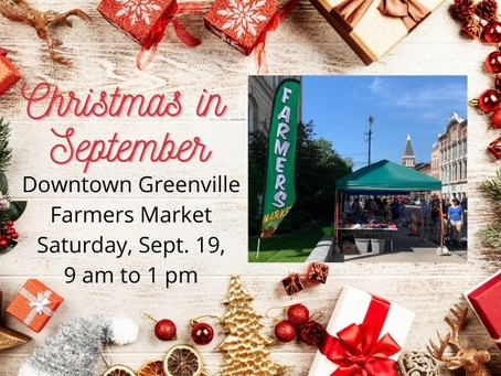 Farmers Market hosts Christmas in September
