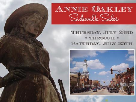 Annie Oakley Sidewalk Sales