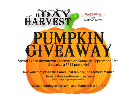 Pumpkin Giveaway During A Day of Harvest