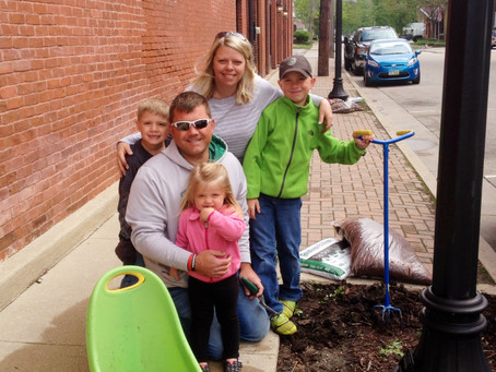 Main Street Greenville to Plant Flowers Downtown