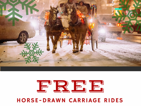 Free Horse-Drawn Carriage Rides