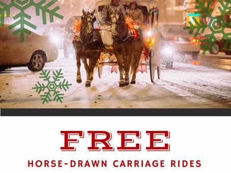 Free Horse-Drawn Carriage Rides