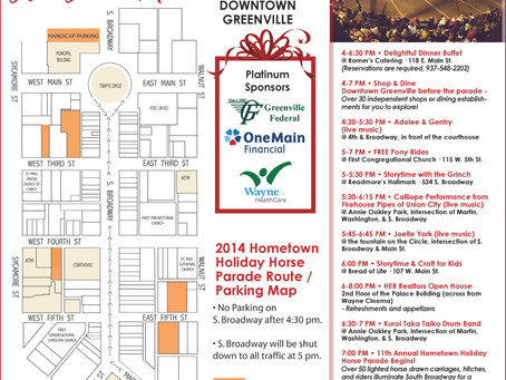 Parade Route Map & Entertainment Schedule for Hometown Holiday Horse Parade