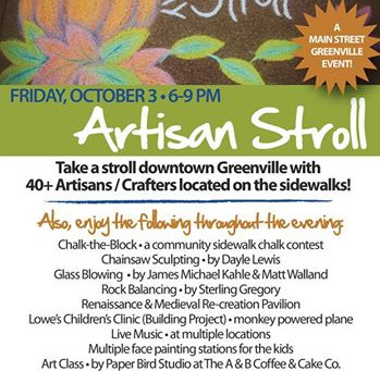 October's First Friday - the Artisan Stroll!