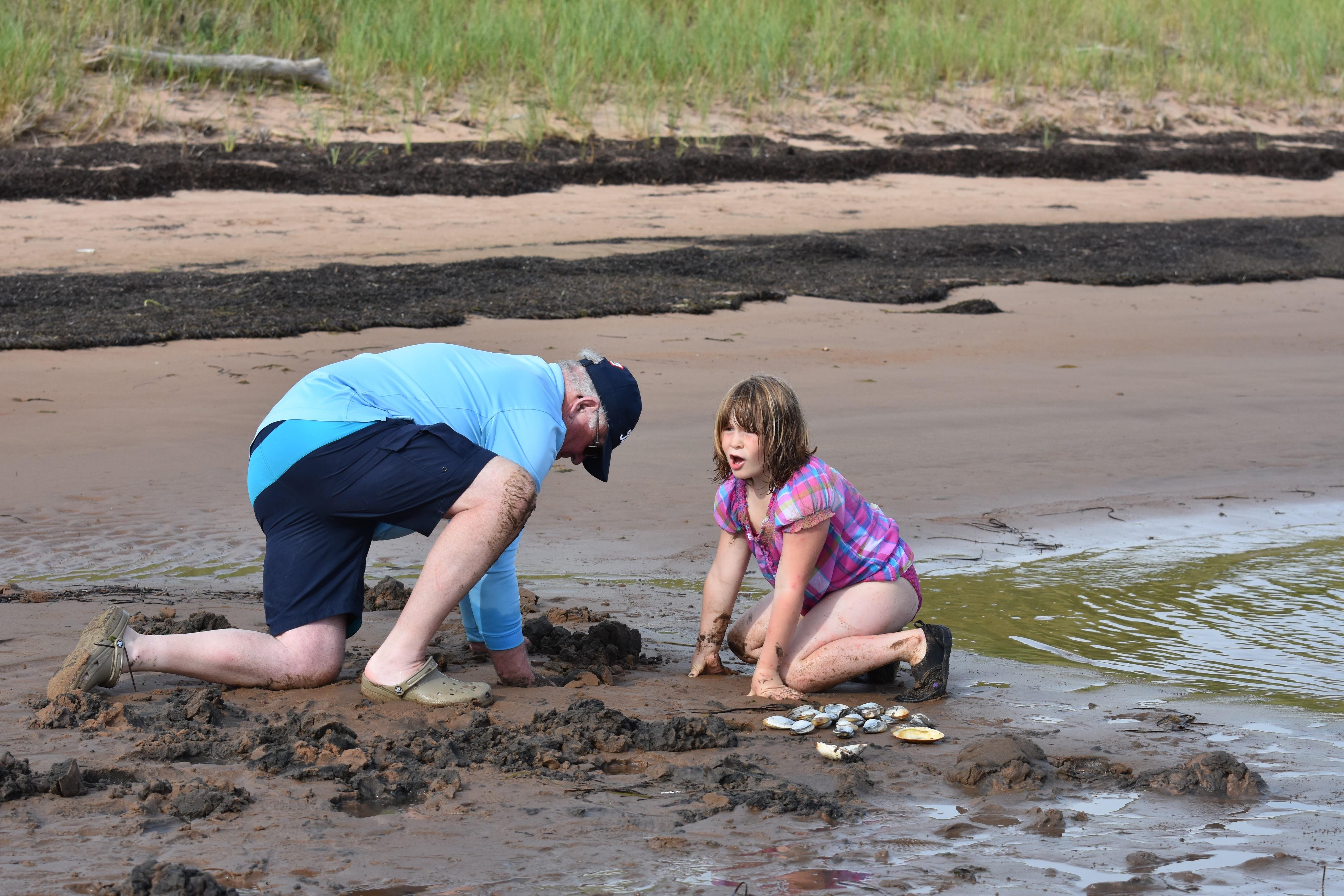 Clam digging