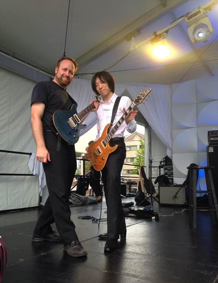Me and Masato at Harvard with guitars 9_