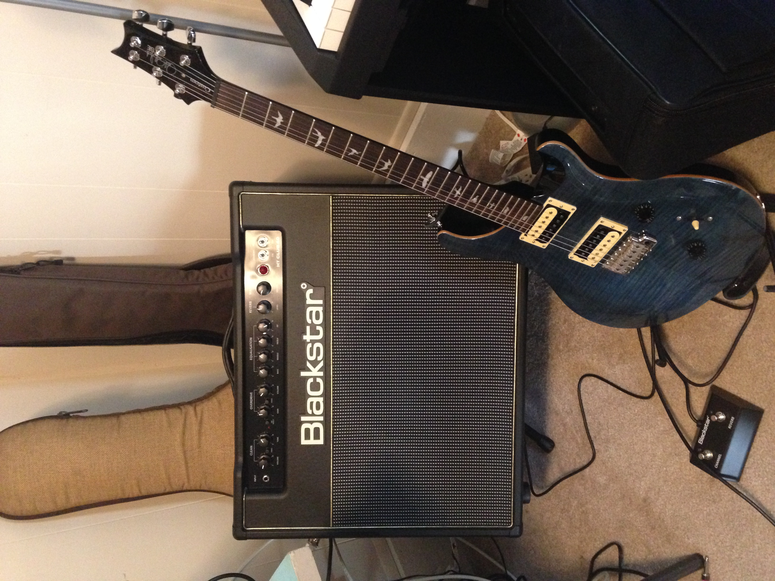 PRS and Blackstar amp