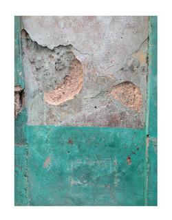 teal wall