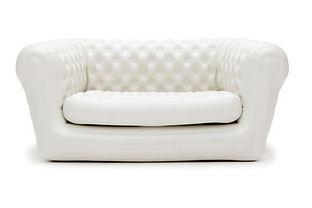 Uppblåsbara vit soffa
