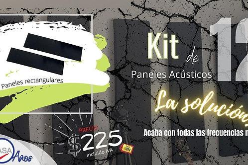 Kit de 12 paneles acústicos
