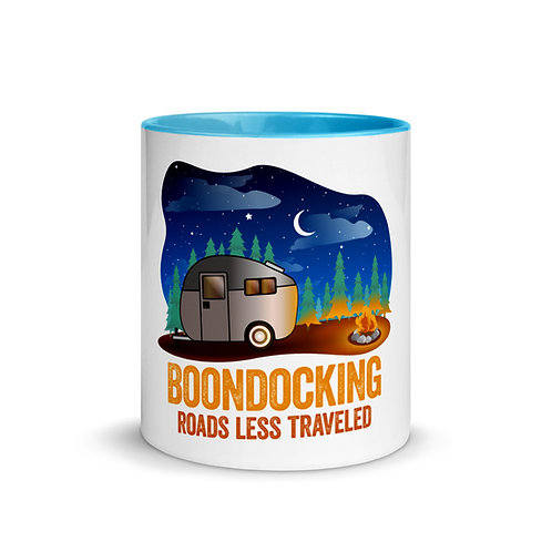 RVD Boondocking Roads Less Traveled Mug with Color Inside