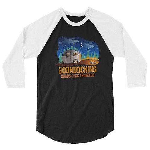 RVD Boondocking Roads Less Traveled 3/4 sleeve raglan shirt